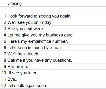 , Cara-Cara Menutup Percakapan yang Umum Digunakan di Bahasa Inggris