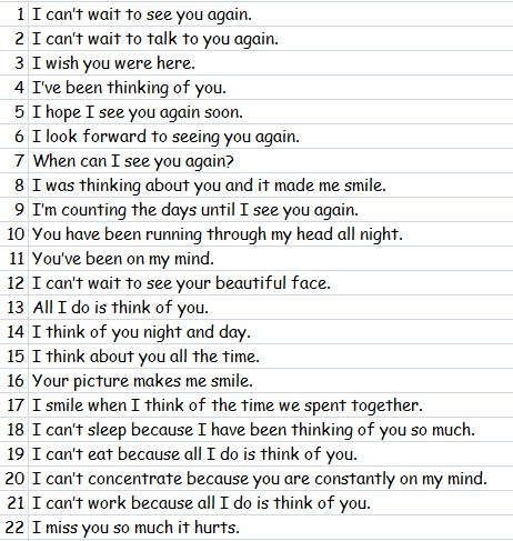 "Nartive Dalam Bahasa Inggris 22 Cara Mengatakan ""I Miss You"" dalam"